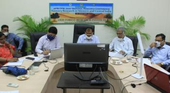 RRC on 'Forestry research in western and central India' jointly organized by AFRI, Jodhpur and TFRI, Jabalpur on 25 Aug, 2020