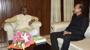 Dr. S.C. Gairola, Director General, ICFRE meeting with Shri T.S. Rawat, Chief Minister of Uttarakahand