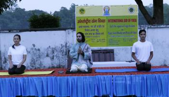 Celebration of International Yoga Day at ICFRE / FRI, Dehra Dun  on 21st, June, 2019