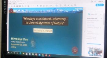 Celebration of Himalayan Day at Forest Research Institute, Dehradun on 09th September, 2020