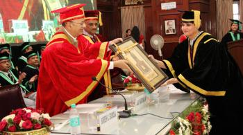 Convocation, Forest Research Institute, Deemed University, Dehra Dun on 04th October, 2017.