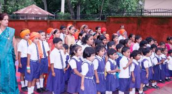 Celebration of Independence Day at New Forest Primary School, Forest Research Institute, Dehradun on 15th August, 2019